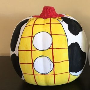 Hand painted Woody faux pumpkin